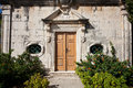 House Entrance With Stair And Shrub Stock Photo - 51091520