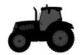 Tractor Silhouette On A White Background. Stock Images - 51093594
