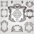 Old Art Nouveau Set Label Banner Element Vintage Set Royalty Free Stock Photos - 51098698