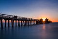 Pier Of Naples At Sunset Stock Photos - 51100893