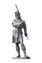 Medieval Knight Statue Isolated On White Stock Photos - 51108243