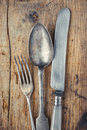 Fork, Spoon And Knife Closeup Royalty Free Stock Image - 51114656