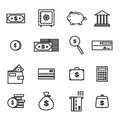Vector Set Of Money Related Outlined Icons Stock Photo - 51122050