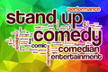 Stand Up Comedy Word Cloud With Abstract Background Stock Photo - 51126810