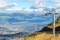 Gondola Rising From Quito Royalty Free Stock Images - 51129559