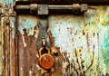 Grungy Locked Doors Stock Photo - 51137340