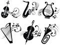 Vector Musical Icons Stock Images - 51141784