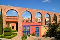 Spanish Colonial Aquaeduct In Zacatecas, Central Royalty Free Stock Photos - 51145748