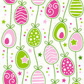 Retro Easter Eggs Seamless Pattern Royalty Free Stock Image - 51147146