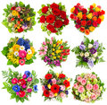 Bouquets Of Colorful Flowers For Birthday, Wedding, Easter, Holi Royalty Free Stock Photo - 51157615
