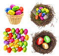 Chocolate And Colored Easter Eggs In Gold, Red, Green Stock Photos - 51157883