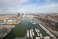 Aerial View On The Yacht Harbor At The Bonaparte Docks, Antwerp Stock Images - 51159534