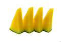 Yellow Watermelon Slices With White On Background Stock Images - 51171204