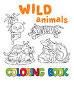 Coloring Book With Wild Animals Stock Image - 51179671