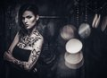 Tattooed Beautiful Woman Royalty Free Stock Photo - 51193245