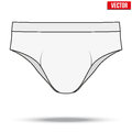 Male White Underpants Brief. Vector Illustration Royalty Free Stock Photography - 51198187