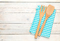 Kitchen Utensil Over White Wooden Table Background Royalty Free Stock Photo - 51199895