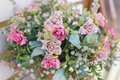 Artificial Flowers In The Basket In Vintage Theme Stock Photo - 51200370