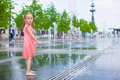 Adorable Girl Have Fun At Hot Sunny Summer Day Royalty Free Stock Photo - 51200515