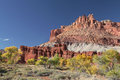 Castle Rock In The Fall, Capital Reef National Park, Utah Stock Photos - 51202033
