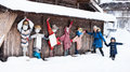 Tourists In Japan At Winter Royalty Free Stock Photo - 51204435