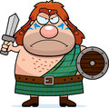 Angry Cartoon Celtic Warrior Royalty Free Stock Image - 51204546