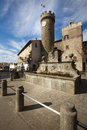 Tower, Fountain And Plaza Of The Village Of Bagnaia. Italy Stock Images - 51207324