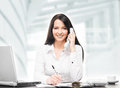 Young And Attractive Businesswoman Working In Office Stock Image - 51219751