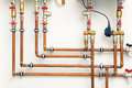 Copper Pipes Stock Images - 51222114