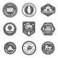 Farmer Label Set Royalty Free Stock Images - 51224259
