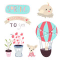 Spring Is Coming Vector Set Stock Image - 51237801