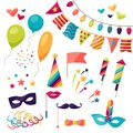 Celebration Carnival Set Of Icons And Objects Royalty Free Stock Photos - 51241898