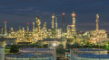 Panorama Of Oil Refinery And Storage Tanks At Twilight Royalty Free Stock Images - 51259739
