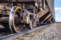 Rail Road Detail During A Hot Sping Day In Farnam. Stock Photos - 51263683