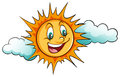 Smiling Sun In The Sky Royalty Free Stock Photo - 51272025