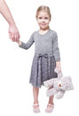 Beautiful Little Girl Holding Hand Of Her Father Isolated Royalty Free Stock Photos - 51273808