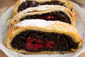 Poppy Seed Strudel With Cherry Royalty Free Stock Photography - 51274407