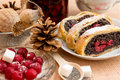 Poppy Seed Strudel With Cherry Stock Photography - 51274562