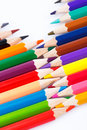 Colour Pencils  On White Background Royalty Free Stock Photography - 51279357