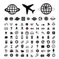 Plane And Globe Vector Icons Royalty Free Stock Image - 51290526