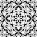 Seamless Black And White Geometric Pattern, Simple Vector Backgr Stock Image - 51291631