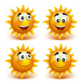 Set Of Summer Sun Face With Happy Smile Royalty Free Stock Photos - 51296938