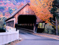 Vermont Woodstock Covered Bridge In Autumn Royalty Free Stock Photography - 51298627