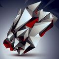 Vector Digital 3d Abstraction, Geometric Polygonal Element. Spat Royalty Free Stock Photo - 51298995