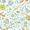Seamless Doodle Pattern. Stock Image - 51311071