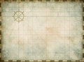 Blank Vintage Nautical Map On Worn Parchment Royalty Free Stock Images - 51314669