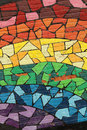 Rainbow Painting On A Wall Royalty Free Stock Photos - 51315228