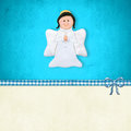 First  Communion Card, Happy Angel Stock Photo - 51318100