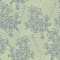 Seamless Wallpaper With A Branch Of Lilac Blossoms. Vector Illus Stock Images - 51321884