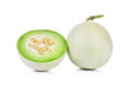 Honeydew Melon Sliced In Half Isolated On White Royalty Free Stock Images - 51324229